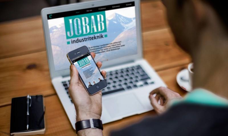 Jobab industriteknik responsiv hemsida av Kogit Design