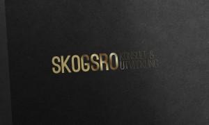 Skogsro konsult och utveckling logotyp i guld