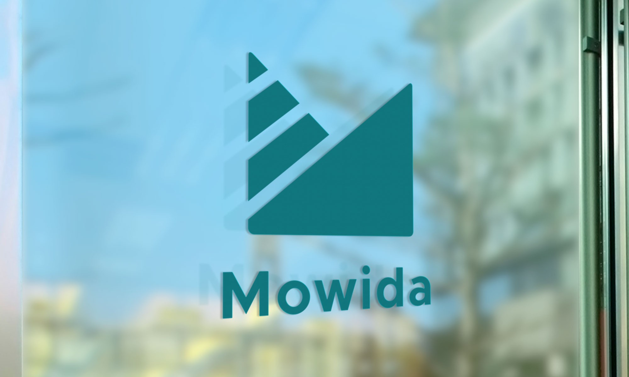 Mowida logotype signage design by Kogit Design